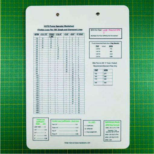 Pump Operator Clipboard Standard Aluminum Back
